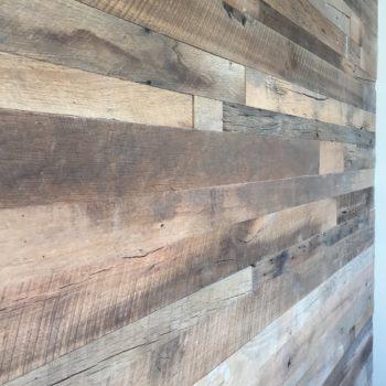 Reclaimed wood at Vasili's Kitchen Mediterranean restaurant